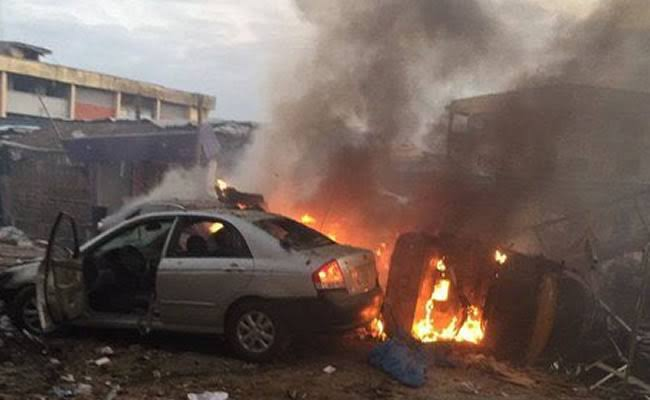 , Update: Gas explosion rocks Ajao Estate, two burnt to death (Video), Effiezy - Top Nigerian News & Entertainment Website