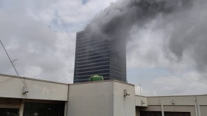 World Trade Center on Fire in Abuja.