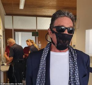 Tech tycoon John McAfee allegedly get arrested in Norway for wearing a lacy Thong on his face instead of a mask