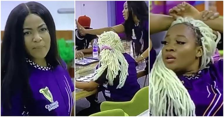 BBNaija: Erica Fights With Lucy