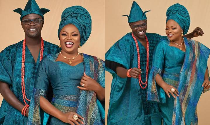 Nollywood Actress Funke Akindele celebrate 4th wedding anniversary with hubby
