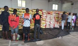 Navy seizes 1,522 bags of smuggled rice, arrests eight in Calabar