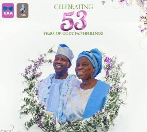 Pastor Adeboye, celebrate 53rd wedding anniversary with wife