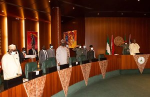 Buhari presides over  Federal Executive Council meeting (Photo)