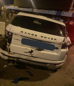 EndSARS Protesters attacked by hoodlums at Lekki Toll Gate, their cars destroyed (See Photos)