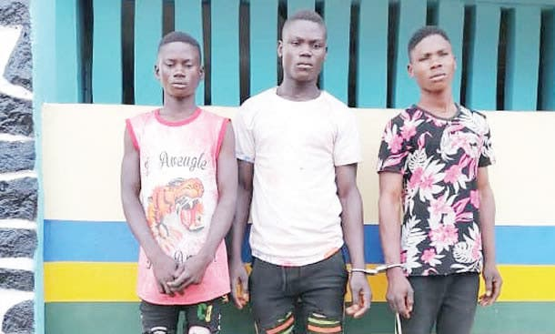 , Police arrest three young men for gang-raping 16-year-old girl in Ogun (Photo), Effiezy - Top Nigerian News & Entertainment Website