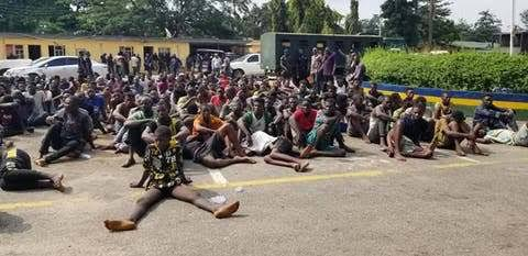 EndSARS: 520 hoodlums paraded in Lagos