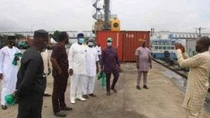 Jubilation Trail as the First Set of Container Arrive in Onitsha Seaport After 40 Years