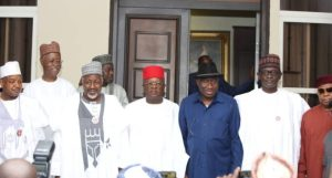 APC Governors visit Jonathan ahead of 2023 elections (Photos)