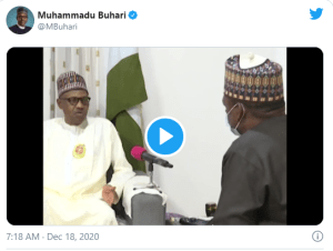 Video of President Buhari speaking about the release of Kankara Schoolboys