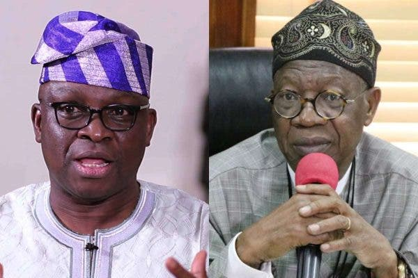 , Minister Of Misinformation with septic-tank-like mouth; Fayose blasts Lai Mohammed for saying Nigeria's Security is better now, Effiezy - Top Nigerian News & Entertainment Website