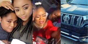 Regina Daniels gifts her mother a N15million Prado Jeep for her birthday (video)