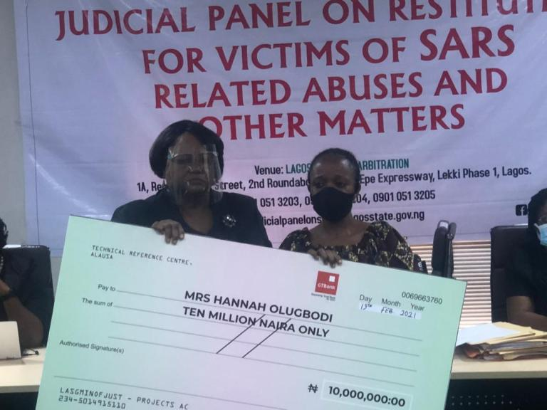 Lagos judicial panel issues compensation to victims of Police brutality, Lagos judicial panel issues compensation to victims of Police brutality (Photo), Effiezy - Top Nigerian News & Entertainment Website