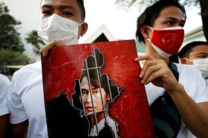 Myanmar doctors stop work to protest coup