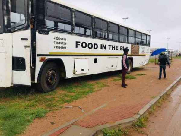 , Social media users react as man converts 47-seater bus into mobile restaurant (photos), Effiezy - Top Nigerian News & Entertainment Website