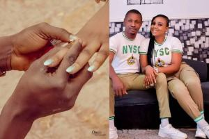 NYSC gave me my wife, man engages his fellow corps female member on their passing out day.