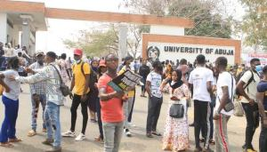 UNIABUJA students protest hike in tuition fee, amongst all others