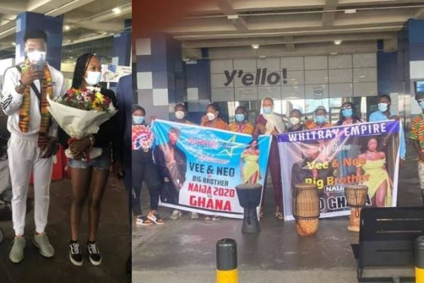 , Fans go crazy as BBNaija Star, Neo and Vee arrive in Ghana for a brief tour (video), Effiezy - Top Nigerian News & Entertainment Website