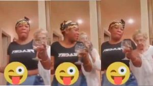 Elderly white woman filmed spitting on Black caregiver seen dancing together as they reportedly reconcile (video)