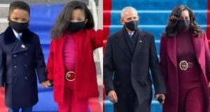 Lovely kids recreate Obama and Michelle's inauguration outfits (Photos)