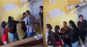 Student fights lecturer and tears his shirt for not allowing her to write an exam (video)