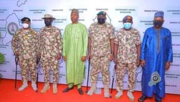 , New appointed Service chiefs storm Borno, meet Zulum, to step up fight against insurgency, Effiezy - Top Nigerian News & Entertainment Website