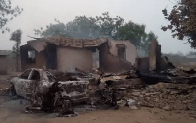 , Sunday Igboho: Youths burns Fulani settlement to the ground in Ogun State leaving one dead, Effiezy - Top Nigerian News & Entertainment Website