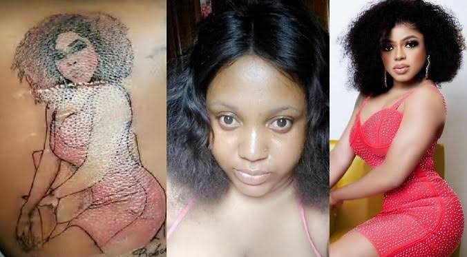 , Lady who tattooed Bobrisky at her back, assaulted and almost stripped by area boys for drawing Bobrisky, Effiezy - Top Nigerian News & Entertainment Website