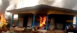 Hoodlums burn newly renovated Police headquarters In Imo