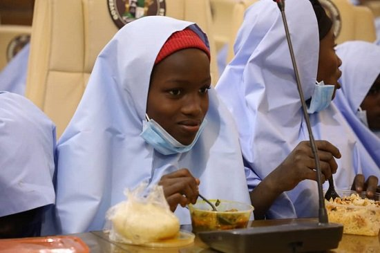 , Jangebe schoolgirls have first good meal after abduction, says they were fed rice with sands added to it (photos), Effiezy - Top Nigerian News & Entertainment Website