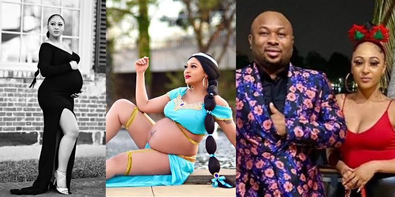 Fans dragged Olakunle Churchill for naming newborn baby with Rosy Meurer the same as that of his first son with his ex