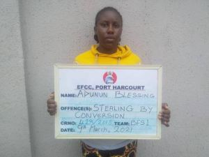 Port Harcourt woman Blessing Adunun escapes jail with N100K fine