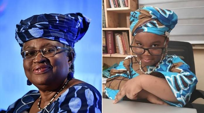Okonjo-Iweala honours 4-year-old girl who dressed to look like her