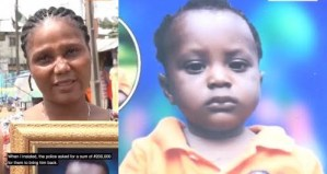 Woman cries out for help as police gave her missing child to an imposter & wants her to pay N200k