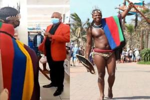 Man gets kicked out of shopping mall over 'indecent African attire' (Video)