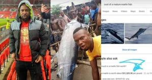 """Rapper, Ruggedman teases villagers who ate Blue Marlin Fish which cost about $3 million, saying """"Dem no dey watch Natgeo wild"""""""