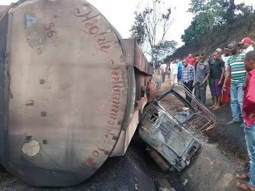 Tears as fuel truck kill six tricycle passengers in Akwa Ibom