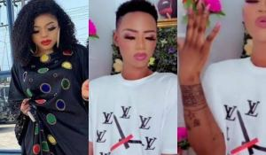 Man who tattoos Bobrisky on his hand joins the cross-dressing gang (video)
