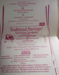 Nigerian man set to marry two women on the same day
