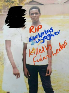 JSS3 Student and his mother killed in Benue by suspected Fulani Herdsmen (Photo)
