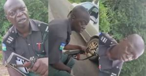 """""""I don't want transfer. I want cash"""" — Bribe seeking police officer tells man driving without a tinted permit (video)"""