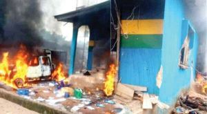 Two officers killed as gunmen set Anambra police station on fire