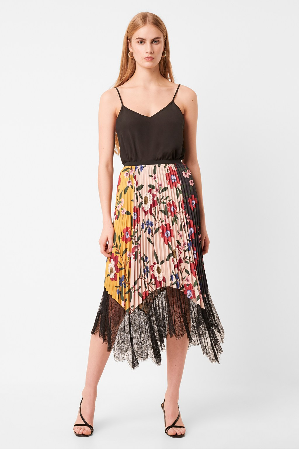 French Connection Abeona Drape Midi Skirt