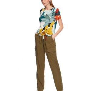 Floral top blouse jeans wear