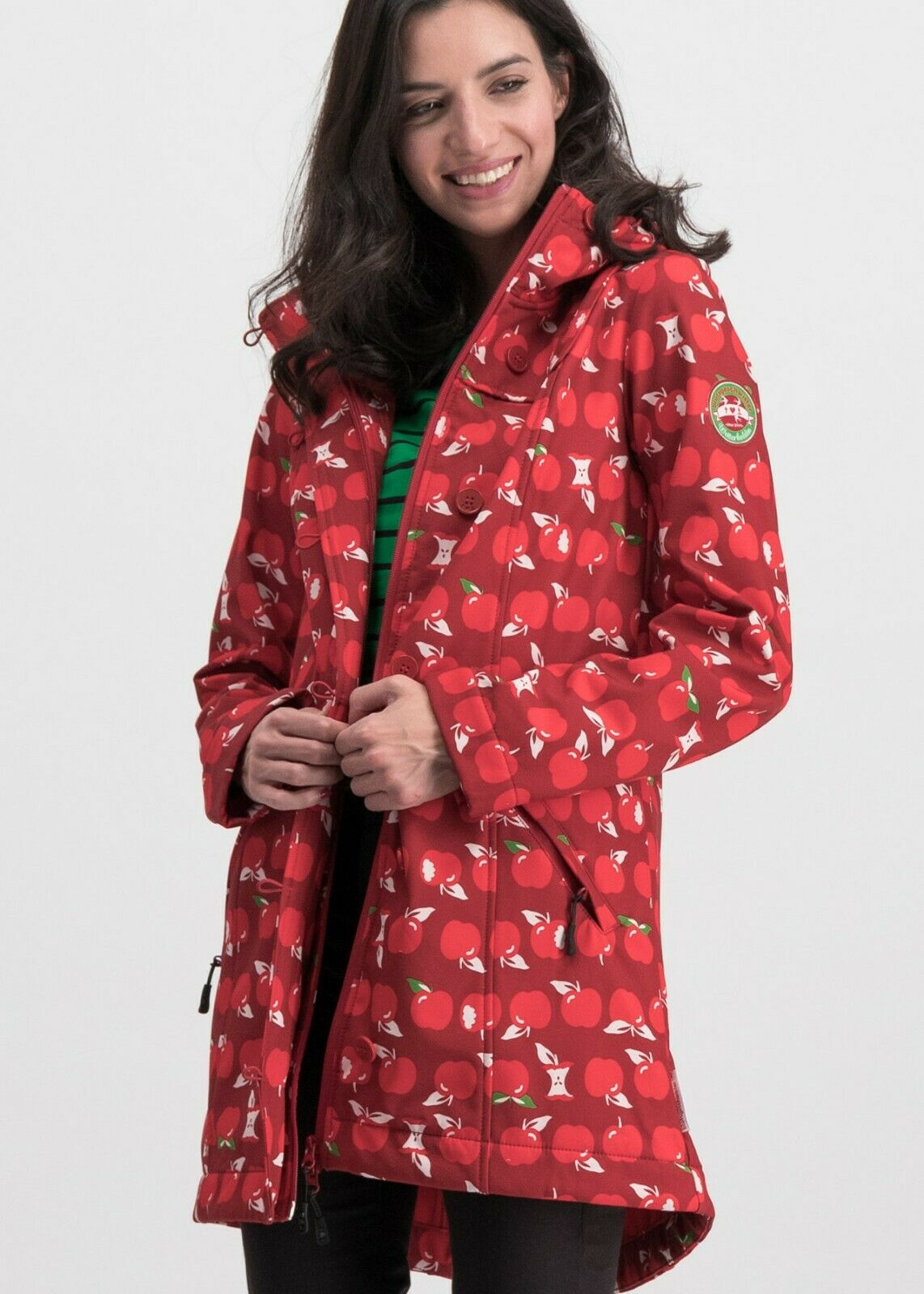 Rain Coat Apple Print Tralee