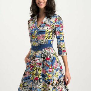 A line vintage wonder woman dress