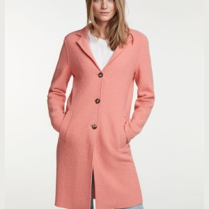 oui crabapple boiled wool coat