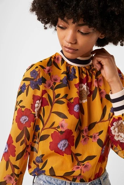 French Connection blouse top floral