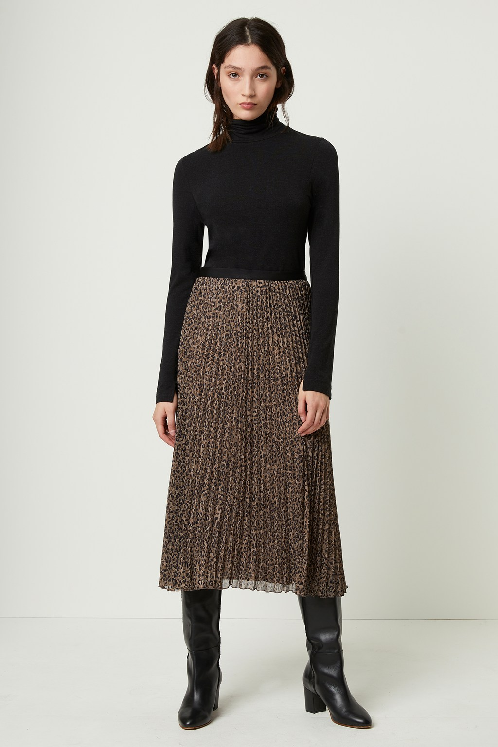 french connection pleated midi skirt