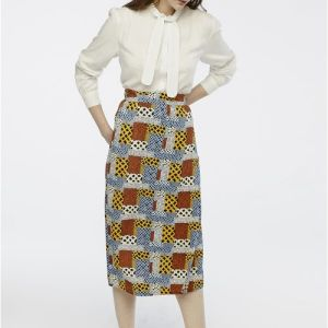 animal print skirt midi